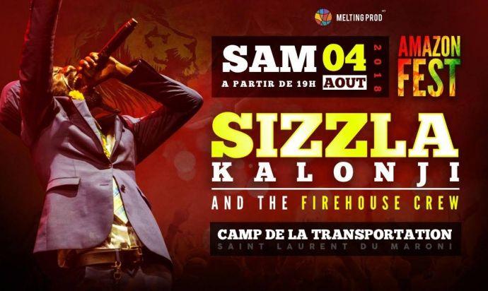 Sizzla Kalonji en show à Saint-Laurent du Maroni