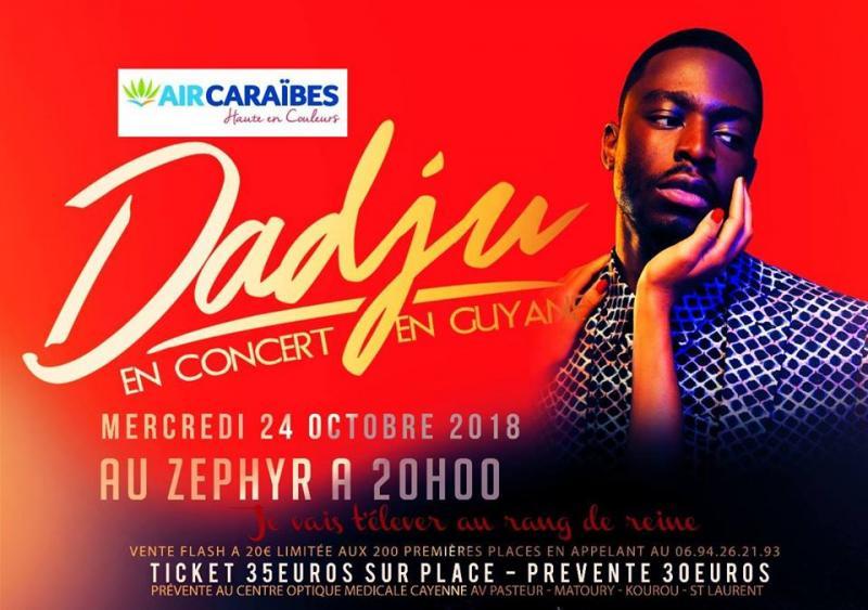 Dadju en concert en Guyane
