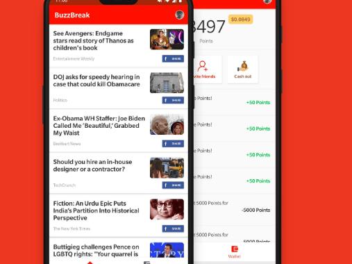 Application Buzzbreak (Gagner de l'argent)